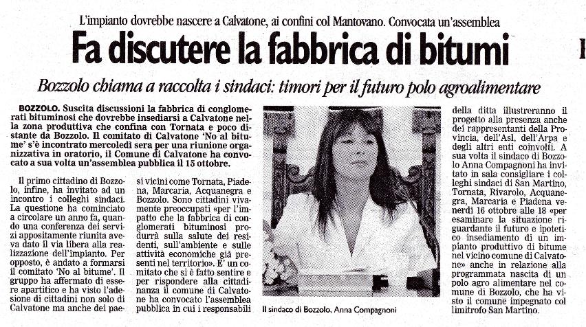 Articolo Gazzetta di Mantova