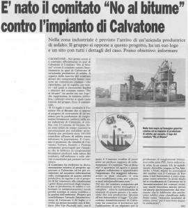 Articolo della La cronaca del 08-08-2009